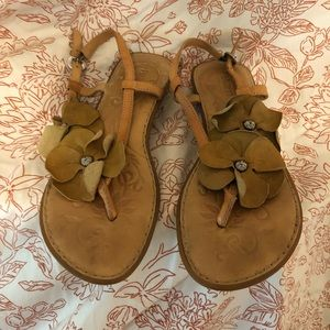 Born sandals size 9 floral leather